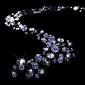 En massa diamanter — Stockfoto