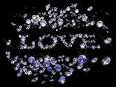 Diamantes de dia dos namorados — Fotografia Stock