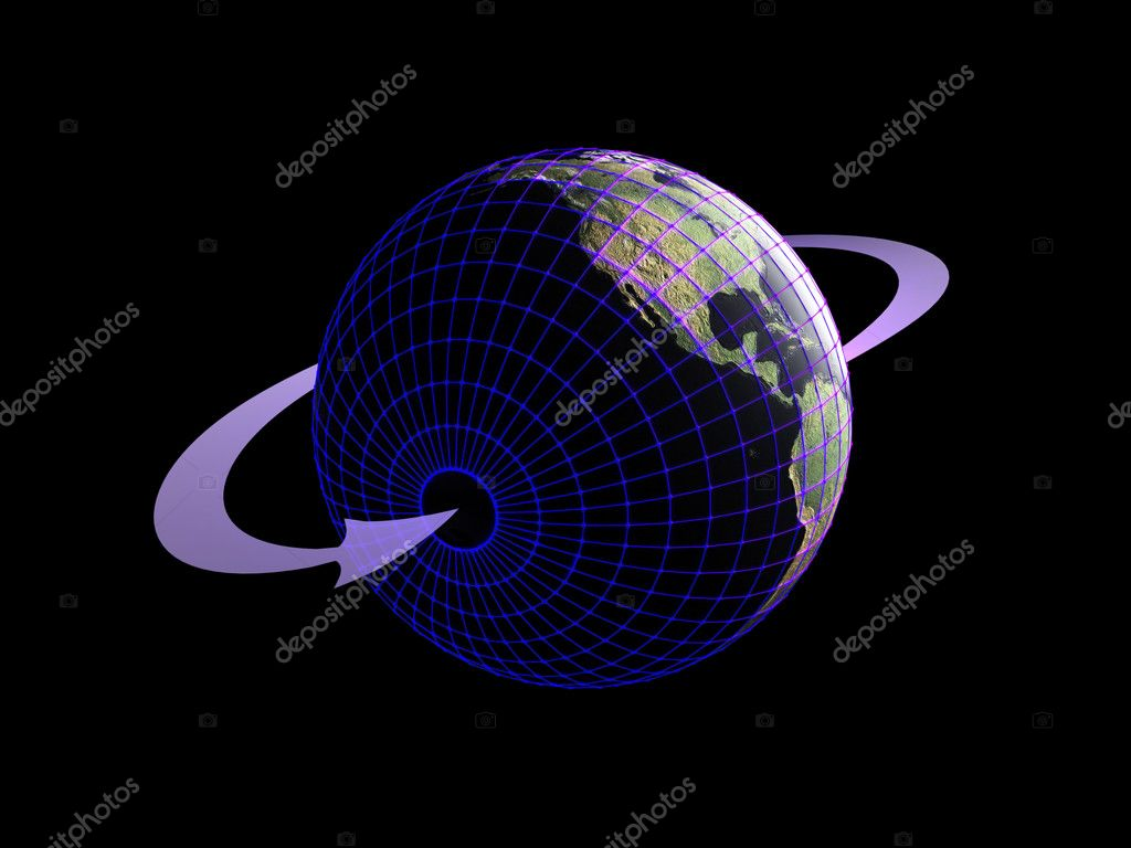 Target on Earth with wire  Stock Photo #1620039