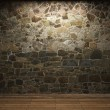 Illuminated stone wall — Stock Photo #1739122