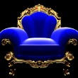 Royalty-Free Stock Photo: Classic golden chair in the dark