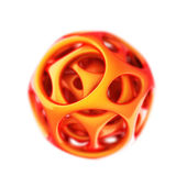 Orange plastic spherical designer — Stock Photo