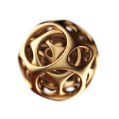 Golden spherical designer — Stock Photo