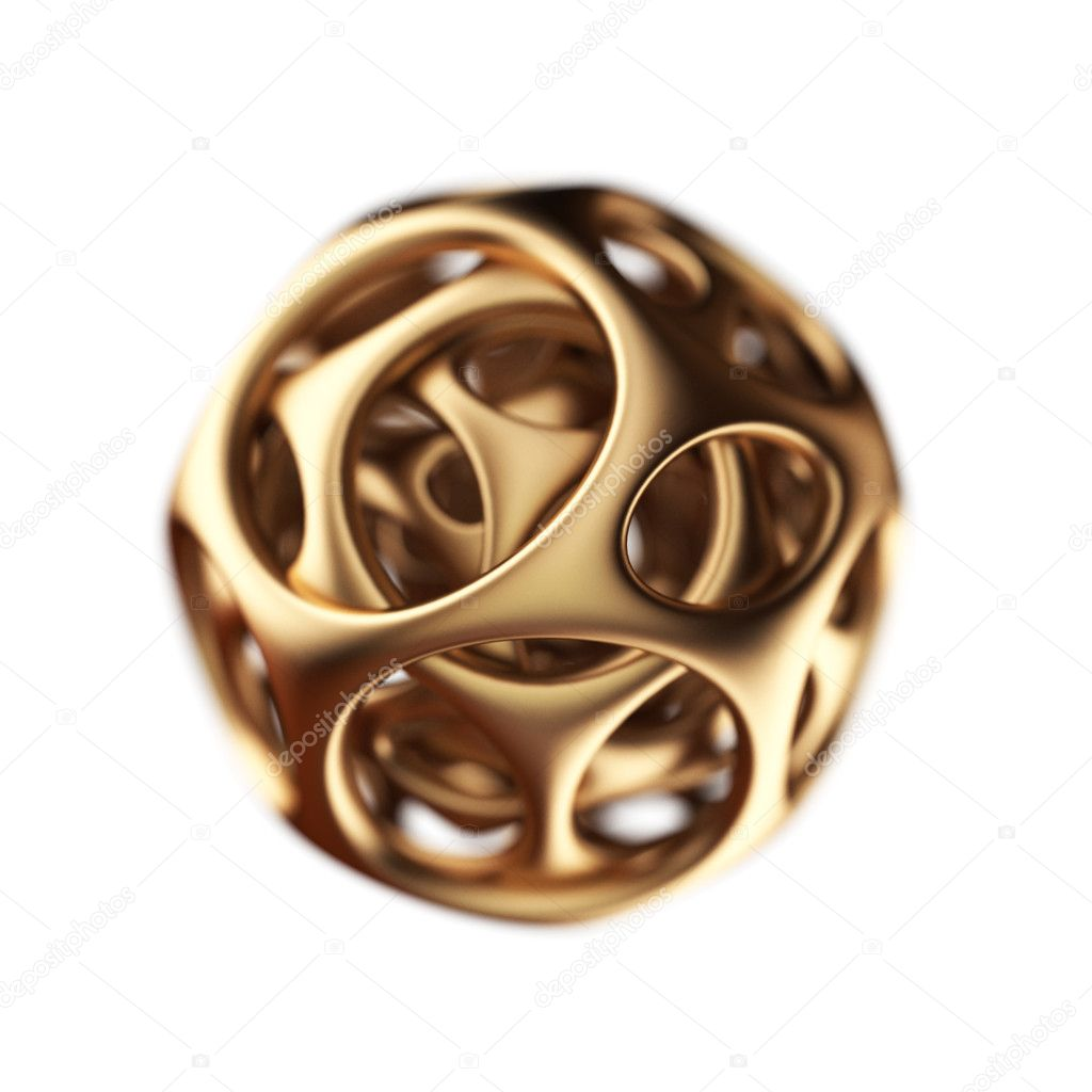 Golden spherical designer made in 3D graphics  Stock Photo #1776515