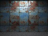 Gamla metall vägg — Stockfoto