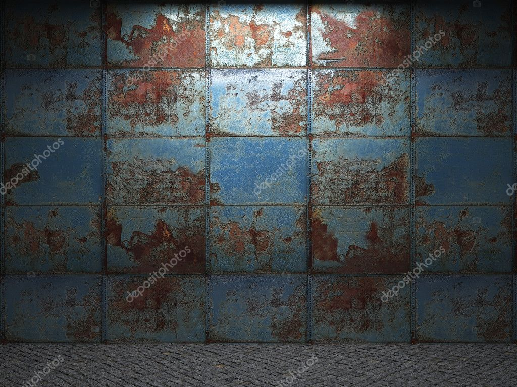Old metal wall made in 3D graphics — Stock Photo #2077828