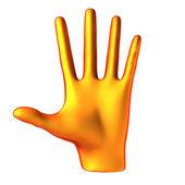 Counting orange hand — Stock Photo