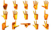 Counting orange hands — Stock Photo