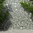 Illuminated stone wall and ivy — Stock Photo #2576120