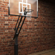 Old brick wall and basketball - Stock Photo