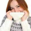 Young woman with white sweater — Stock Photo #1753714