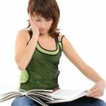 Girl doing homework — Stock Photo #1804121
