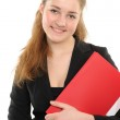 Young woman in business attire holding — Stock Photo #2156222