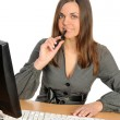Woman before its computer — Stock Photo #2156317