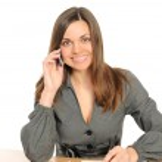 Beautiful business woman on the phone — Stock Photo #2245419
