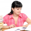 Girl doing homework — Stock Photo #2364205