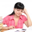 Girl doing homework — Stock Photo #2364239