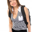 Young female student with a backpack, sm — Stock Photo #2679281