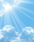 красивые белые облака — Стоковое фото