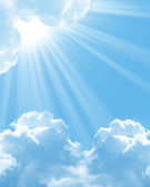 Belas nuvens brancas — Foto Stock