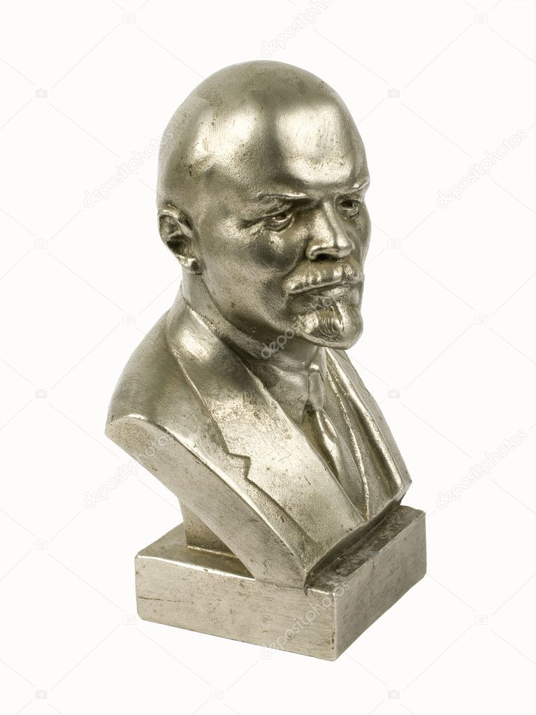 Statue of Lenin on a white background — Stock Photo #1837586