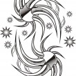 Royalty-Free Stock Vector Image: Tattoo design for girls