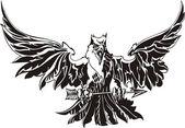Vector eagle — Stock Vector