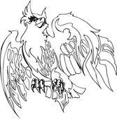 Eagle vector — Vettoriale Stock