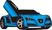 Sportwagen — Stockvektor