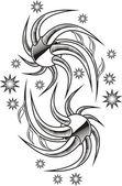 Tattoo design for girls — Stock Vector