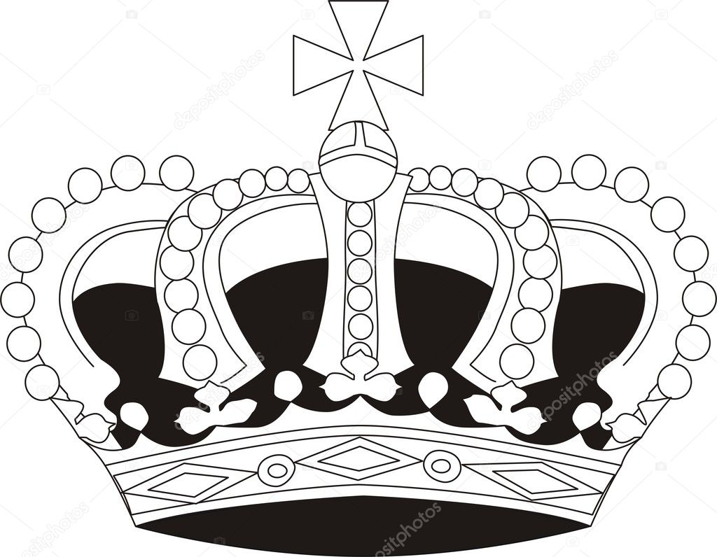 Vector illustration of crown — Stock Vector #1664127