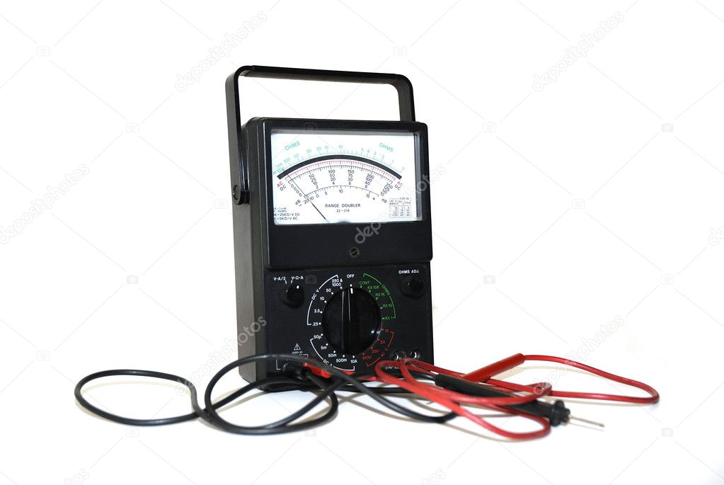 OHMS meter used to test electrical current — Stock Photo #1655219