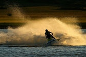 Jet ski action — Stock Photo