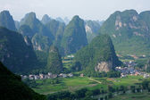 Limestone hills, China — Stock Photo