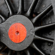 Steam locomotive wheel — Stock Photo