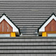 Attic loft windows - Stock Photo
