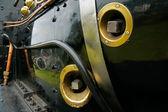 Steam locomotive close-up — Stock Photo