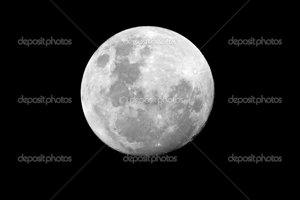 View of the full moon over the African continent  Stock Photo #1871382