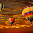 hot air balloons — Stock Photo