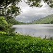 Lake at Kylemore Abbey Castle - Stock Photo