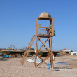 Rescue tower on the beach — Stock Photo #1741358