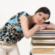 Attractive girl with books — Stock Photo #1994549