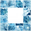Stock Photo: Winter mosaic frame