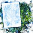 Photo: Vintage winter textured background
