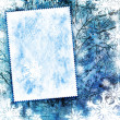 Vintage winter textured background - Stock Photo
