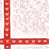 Alla hjärtans-kort bakgrund — Stockfoto