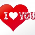 I love you - card — Stock Vector
