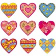 Decorative vector hearts — Stock Vector