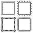 Geometric ornamental frames - Vettoriali Stock 