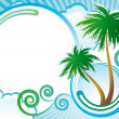Tropical vector background - Stock Vector